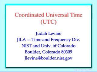 Coordinated Universal Time UTC