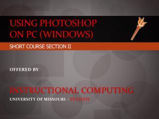 Using  Photoshop on PC (Windows)