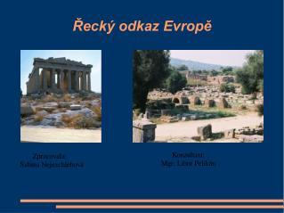 Řecký odkaz Evropě