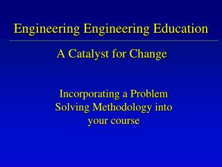 Engineering Engineering Education