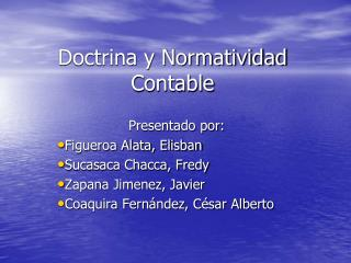 Doctrina y Normatividad Contable