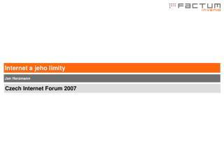 Internet a jeho limity