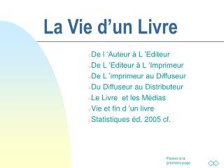 La Vie d'un Livre