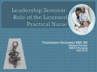 Leadership Seminar: Role of the Licensed Practical Nurse