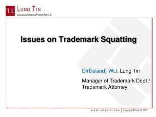 Issues on Trademark Squatting