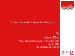 Foreign, Comparative & International Resources