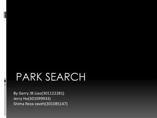 Park Search