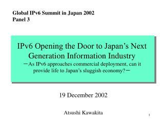 19 December 2002 Atsushi Kawakita
