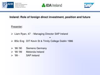 Foreign Direct Investment in Ireland
