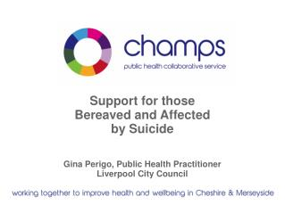 Support for those  Bereaved and Affected  by Suicide Gina Perigo, Public Health Practitioner