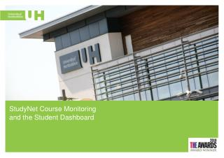 StudyNet  Course Monitoring and the Student Dashboard
