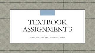 TextBook  assignment 3