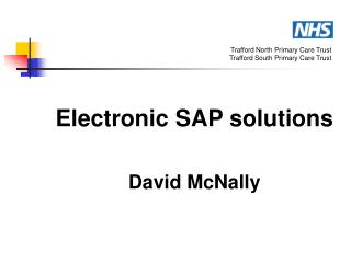 Electronic SAP solutions David McNally