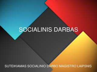 SOCIALINIS DARBAS