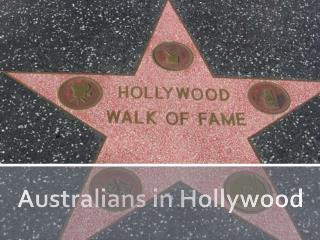 Australians in Hollywood