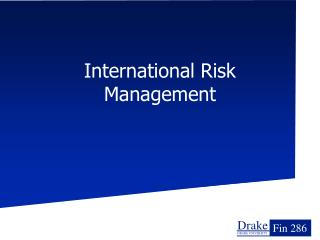 International Risk Management
