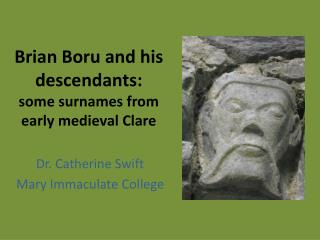 Brian Boru and his descendants:  some surnames from early medieval Clare