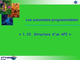 1.10. Structure dun API
