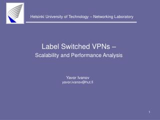 Label Switched VPNs –  Scalability and Performance Analysis