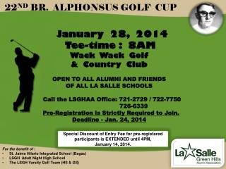 22 ND  BR.  ALPHONSUS GOLF  CUP
