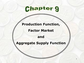 Production Function, Factor Market and Aggregate Supply Function