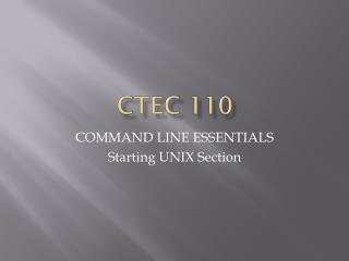 CTEC 110