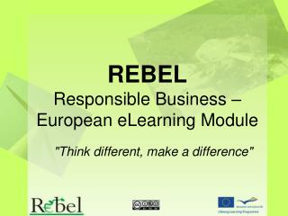 REBEL Responsible Business – European eLearning Module
