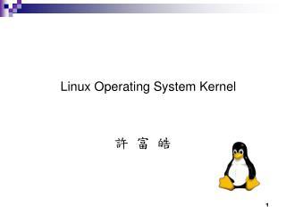 Linux Operating System Kernel  ? ? ?
