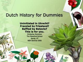 Dutch History for Dummies