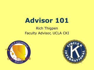 Advisor 101