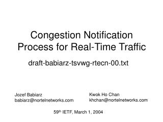 Congestion Notification Process for Real-Time Traffic