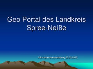 Geo Portal des Landkreis Spree-Neiße