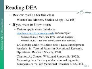Reading DEA