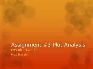Assignment #3 Plot Analysis