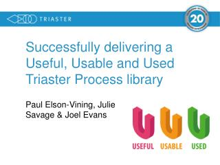 Successfully  delivering a Useful, Usable and Used Triaster Process library
