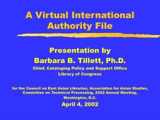 A Virtual International  Authority File