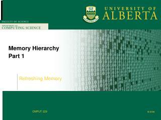Memory Hierarchy Part 1