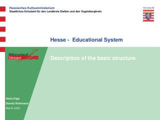 Hesse -  Educational System