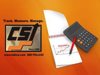 Track. Measure. Manage.