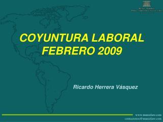 COYUNTURA LABORAL FEBRERO 2009