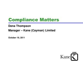 Compliance Matters