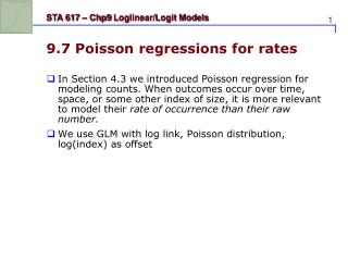 9.7 Poisson regressions for rates