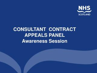 CONSULTANT  CONTRACT  APPEALS PANEL Awareness Session