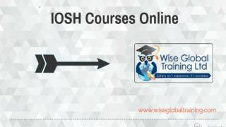 IOSH Courses Online