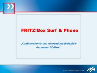 FRITZ!Box Surf & Phone