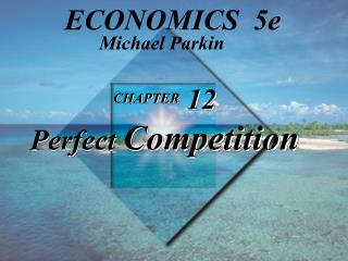 CHAPTER  12 Perfect  Competition
