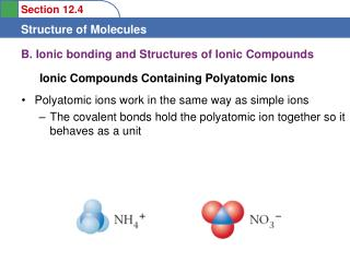 B.  Ionic bonding and Structures of Ionic Compounds
