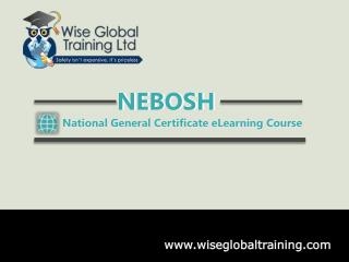 NEBOSH General Certificate eLearning Course