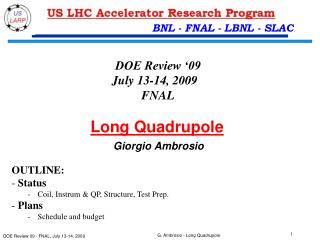 Long Quadrupole Giorgio Ambrosio