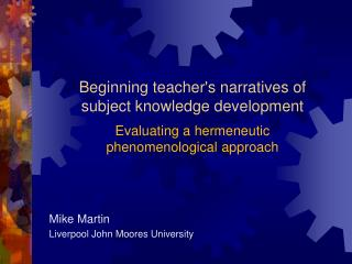 Mike Martin Liverpool John Moores University